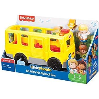 Fisher-Price FKC67 Little People Sit with Me School Bus Activity ...