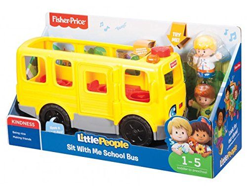 Little People-spielzeug-bus (Fisher-Price fkc67 Little People Sit With Me Schule Bus Aktivität Spielzeug)