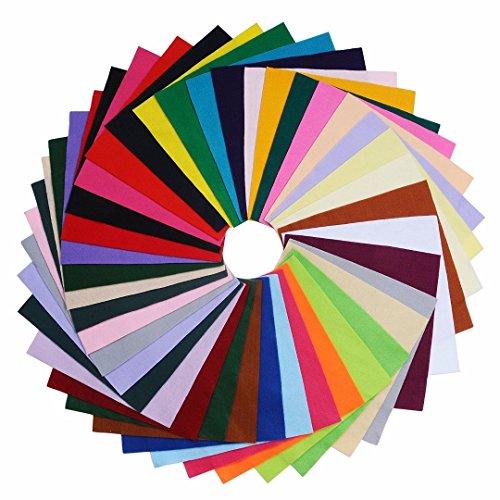 DIY Acryl weiche Filz Stoff quadrat Blätter sortiert Farben 12x12 Zoll für Handwerk, 1,5mm dick 40Pcs