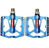 Fahrradpedale von UPANBIKE, ultraleicht, 1,43 cm, dreifaches Lager, aus Aluminium, blau