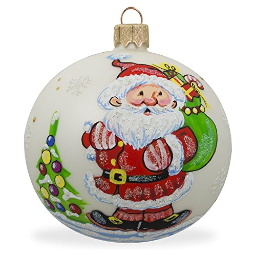 8,3cm Santa Carrying regali ad albero di Natale palla di vetro ornamento