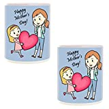 Mother's Day Gifts for Mother Happy Mother's Day Printed Coffee Mug Gift Set of 2
