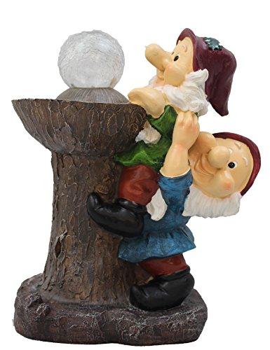 Garden Gnomes Solar Light Ornament Decor Bird feeder