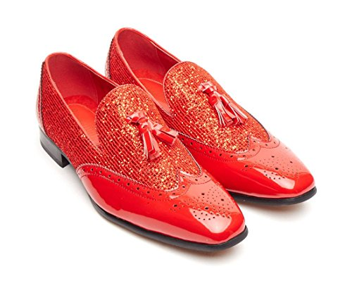Rossellini , Mocassins homme Rouge