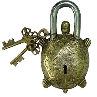 Aakrati Antique Pad Lock Of Tortoise Figure Brown by Aakrati