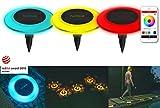 MiPow® Playbulb Solar - wasserdichte LED Solar-Leuchte für Garten, Teich und Pool mit Smart Home App-Steuerung (16 Mio. Farben, Effekte und Timer) (3er Set)