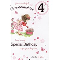 Granddaughter 4th birthday - Card.