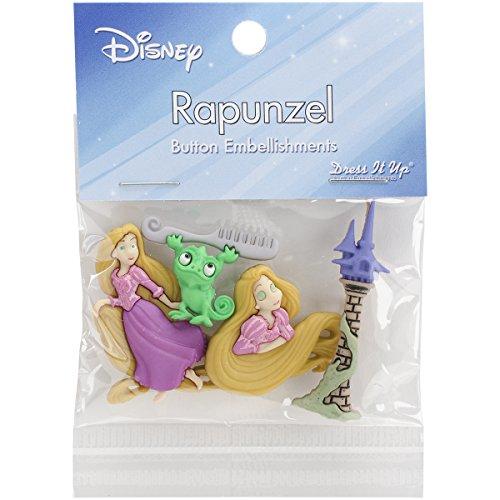 Jesse James Dress It up Licensed Embellishments-Disney (Disney Rapunzel Dress Up Kostüm)