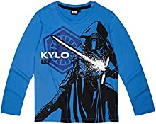 Star Wars-The Clone Wars Darth Vader Jedi Yoda Chicos Camiseta mangas largas 2016 Collection - Azul