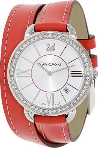 Orologio donna da polso in acciaio swarovski aila day rosso 5095942