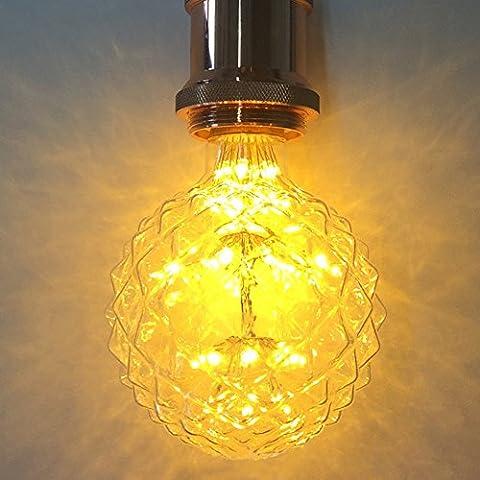Dekoratives Licht Leuchtmittel, xinrong Starry Sky Ananas Form LED Retro Style Edison-Glühbirne, 3W 220V E27Schraube Base Innen Home Weihnachts Urlaub Dekoratives Licht Lampe, warm weiß Glow