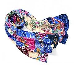 Idea Regalo - Prettystern P933 - 160cm Stampa Fine Art sciarpa di seta in stile Art Nouveau Gustav Klimt - La Vergine