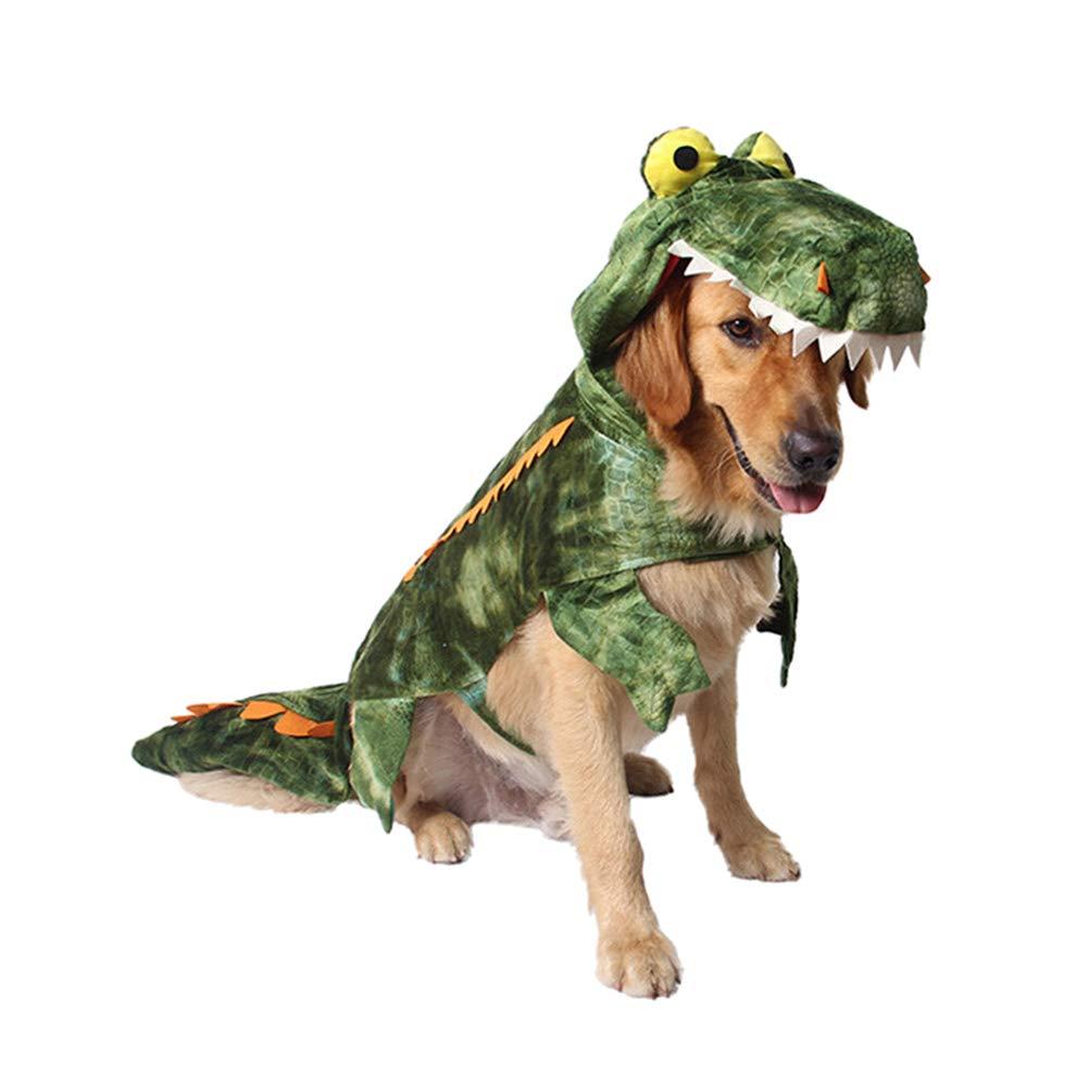 POPETPOP Disfraces para Mascotas, Ropa de Cocodrilo para Perros, Disfraz de Invierno de Calentar para Mediano Pequeño Grandes Perros Disfraz Festivo
