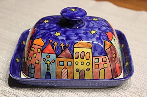 Gall&Zick New Village Beurrier en céramique Peint à la Main