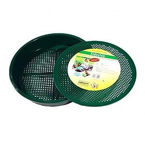 Greemotion 360092 Panier de jardin en plastique à double sol Vert 38 cm