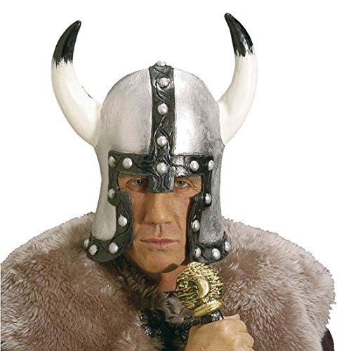 Für Kostüm Barbar Erwachsene Krieger - NET TOYS Wikingerhelm mit Hörnern Krieger Helm Barbaren Kopfbedeckung Wikinger Kriegerhelm Latexhelm Mittelalter Kostüm Zubehör