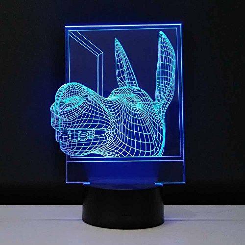Dekorative Lampen Esel Kopf Led Nachtlicht 3D Visuelle Bulbing Optische Täuschung Baby Nachtlicht Mehrfarbige Tischlampe