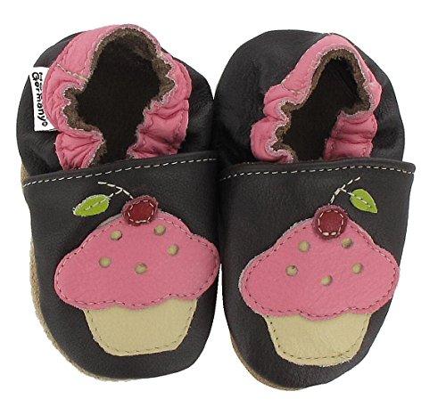 HOBEA-Germany Lauflernschuhe Hausschuhe Kinderschuhe Mädchen, Schuhgröße:18/19 (6-12 Monate), Modell Schuhe:Cup Cake