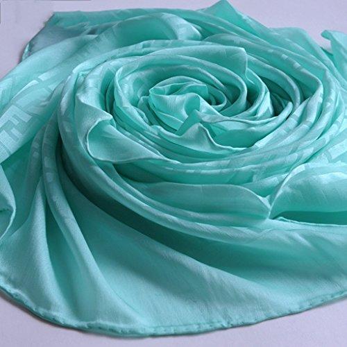 serviette de plage Écharpes en jacquard simples et simples en cuir Écharpe solaire Écharpe sauvage à double usage ( Couleur : #4 ) #1