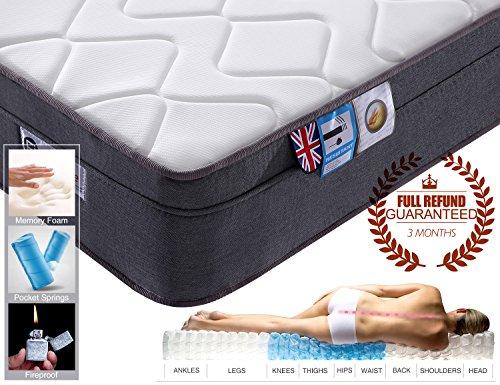 Pocket Sprung Mattress with Memory Foam, 10.6-inch, 3FT Single