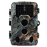 Videocamera da caccia e telaio da caccia 16 MP 1080P HD con visione notturna di 75ft e angolo di obiettivo 108 °