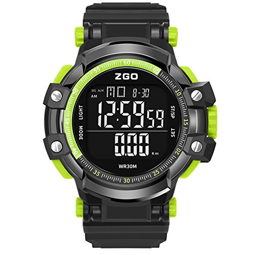 Mens Climb Smart WatchMulti Function Sports Digital Electronic Led 30 M Waterproof Dual Time Fashion Cool Wristwatch C