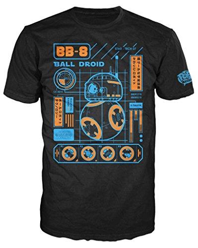 Funko-Camiseta de 149-Pop Tees, Star Wars-Episode 7-BB de 8Blueprint, tamaño XXL