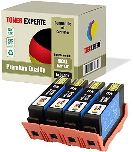 4 XL TONER EXPERTE Sostituzione per HP 903 903XL T6M15AE Cartucce d'inchiostro compatibili con HP Officejet Pro 6950 6960 6970 6975 (4 Nero)