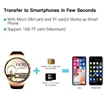 Evershop Smart Watch 15 Inches IPS Round Touch Screen Waterproof Smartwatch Phone With SIM Card Slot Sleep Monitor Heart Rate Monitor And Pedometer For IOS And Android Device Gold