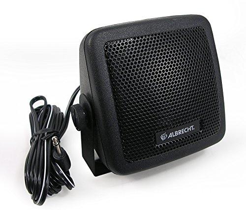 Albrecht CB 150 Mono portable speaker 3W Schwarz - Tragbare Lautsprecher (1.0 Kanäle, 3 W, 350 - 5000 Hz, 8 Ohm, Verkabelt & Kabellos, 2 m)