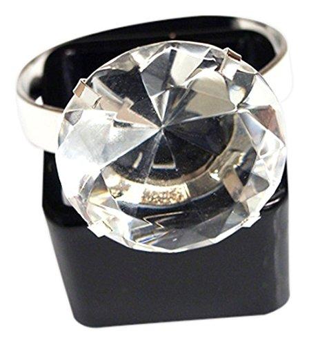 "Firefly Imports FNS007227SIL Acrylic Diamond Napkin Holder Ring, 1-1/2"""
