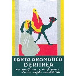 Casanova Carta d'Eritrea 60 Listelli biologici eliminano i cattivi odori, purificano gli ambienti, cartine da bruciare…