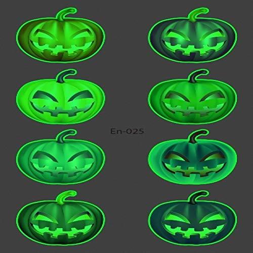 adgkitb 5pcs Halloween Tattoo für Kinder Leuchtend dunkel wasserdicht gefälschte Tätowierung leuchtende Tätowierung Aufkleber Kunst Cartoon Tatto En-025 12 x 7,5 cm