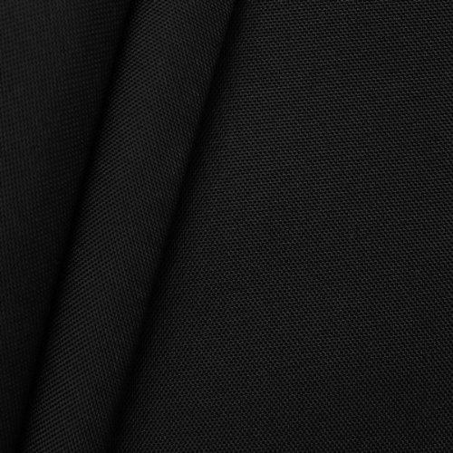 STOFFKONTOR Wasserdichtes Oxford Polyester Gewebe 600D Stoff Meterware Schwarz