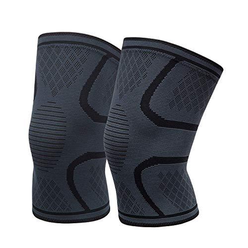 Everwell Kniebandage Damen Männer für Sport, Knie Bandagen Herren, Knieschoner Ideal für Laufen, Bodybuilding und die alltägliche Nutzung - Bequem, Atmungsaktiv, Strapazierfähig - 1 Paar