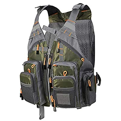 PELLOR Fly Fishing Vest, Pockets Jacket, Outdoor Quick-Dry Net Vest, Fishing Hunting Waistcoat, Travel Photography Mesh Vest