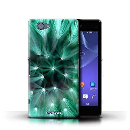 Kobalt® Imprimé Etui / Coque pour Sony Xperia A2 / Bleu conception / Série Couleur/Lumière Fleur Turquoise