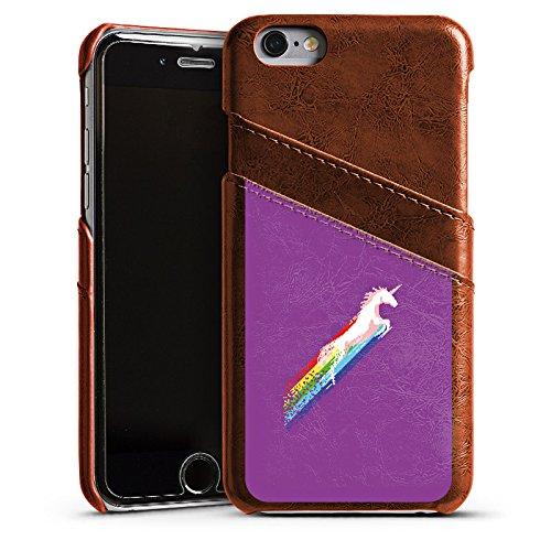 Apple iPhone 4 Housse Étui Silicone Coque Protection Licorne Licorne Licorne Étui en cuir marron