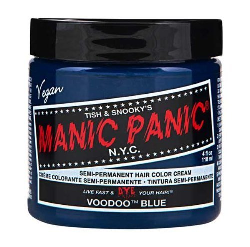 Manic Panic Voodoo Blue Semi Permanent Vegan Hair Dye. by Manic Panic (English (Dye Panic Manic Blue Hair)