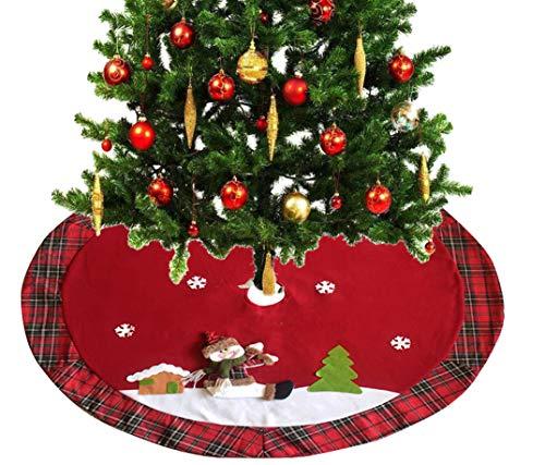 Fun-Here Gonna Albero di Natale Pupazzo di Neve Decorazioni Natalizie per la casa per Le Vacanze in Peluche 3D con Fiocchi di Neve 3D Decorazioni per Feste da 48 Pollici (Pupazzo di Neve)