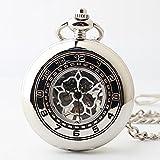 Y & M halbautomatischen Mechanische Uhr/Akelei Muster Taschenuhr/Geburtstag Geschenk Taschenuhr