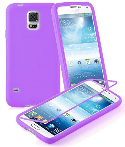 Preisvergleich Produktbild Cadorabo - TPU Silikon Schutzhülle (Full Body Rund-um-Schutz auch für Das Display) für > Samsung Galaxy S5 / S5 NEO < in Flieder VIOLETT