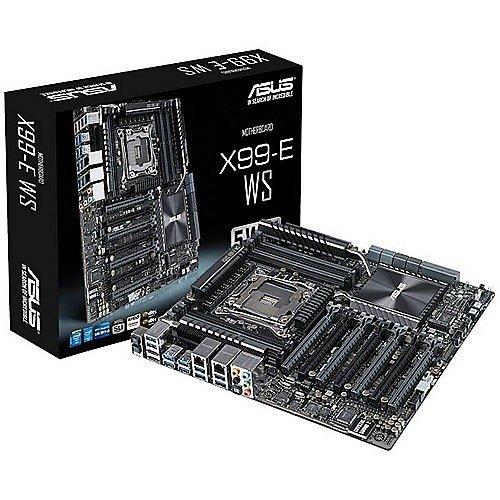 Asus X99-E WS Scheda Madre per Workstation, Intel Processor Socket 2011, 4x Schede Video Dual Slot, RAM 8 Slot fino a 128 GB, 2x LAN, 10x USB 3.1, CEB