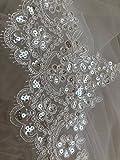 Spitzenbordüre, Blumenmuster, Brautkleid, Hochzeitskleid,