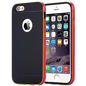 UPPERCASE® Coque iPhone 6 [Bumper Aluminium] Coque Bumper pour iPhone 6 [Neo Hybrid Metal] [Metal Metal Red] Protection double couche, coque bumper en Aluminium pour iPhone 6 (2014) - Metal Metal Red
