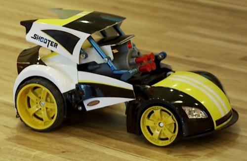 Led-lichter Rc 9v (RC ferngesteuertes Abschuss Fahrzeug - aufklappbar mit Pfeilabschuss funktion , Licht & Musik inkl. Batterie & Akku)