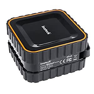Inateck Aufladbarer Tragbarer Bluetooth Lautsprecher, Portable Bluetooth-Lautsprecher, kabelloser Stereolautsprecher, Waterproof Mini Bluetooth Speaker, eingebautes Mikrofon, IPX5 Wasserdicht Standard