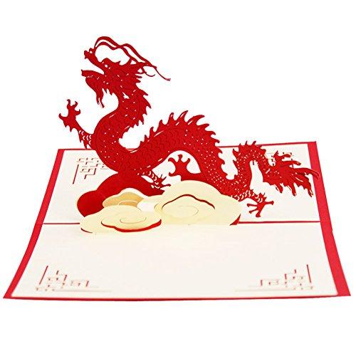 p-Grußkarten Drachen Geburtstag Danke Kinder Geschenke Weihnachten (Valentine Karten Für Kinder)