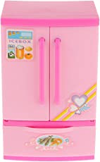 Generic Kids Play House Mini Refrigerator Pretend Toy Educational Gift Pink
