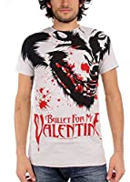 Bullet For My Valentine-Mens Werewolf T-Shirt in Silber